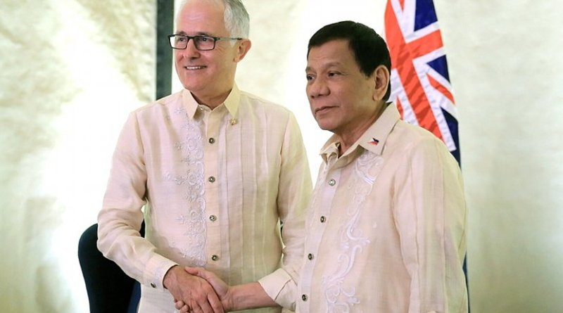 Australia Prime Minister Malcolm Turnbull with Philippine's President Rodrigo Duterte. Photo Credit: Presidential Communications Office