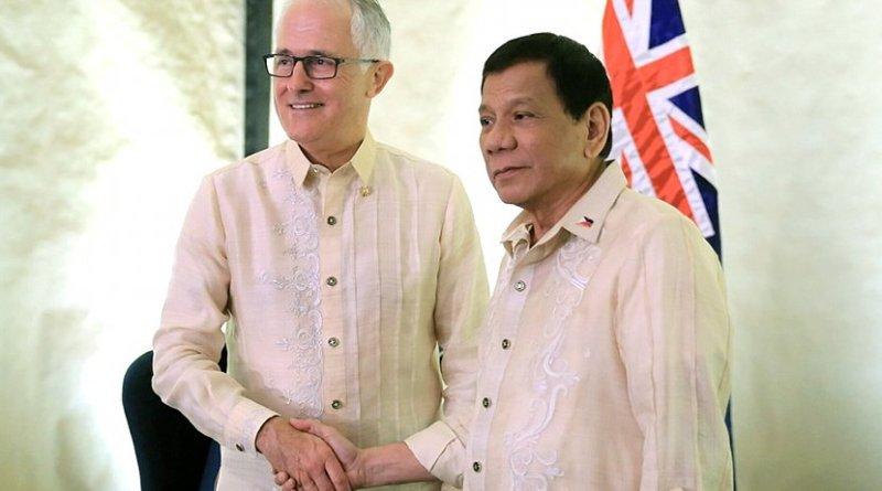 Australia Prime Minister Malcolm Turnbull with Philippine's President Rodrigo Duterte. Photo Credit: Presidential Communications Office