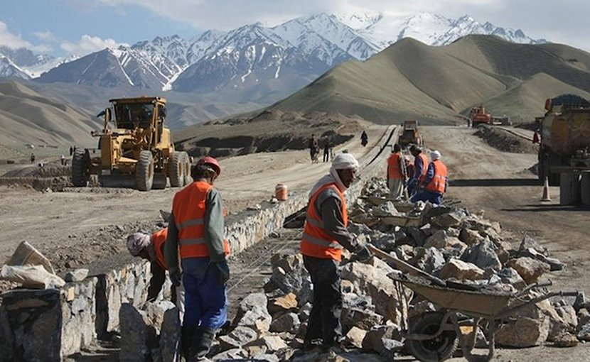 A new road being constructed in Bamyan in 2013. Credit: UNAMA