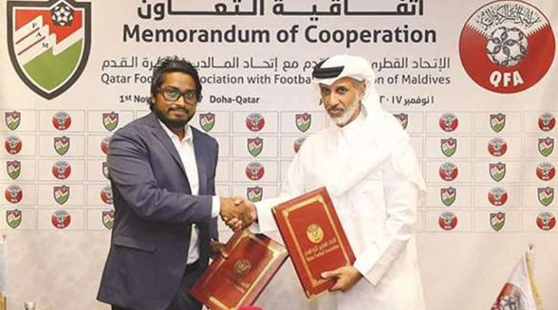Football Federation of Maldives from signing a cooperation agreement with its Qatari counterpart