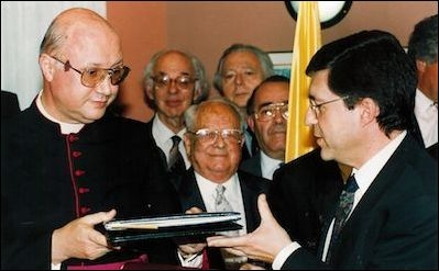 The Holy See and Israel signed the Fundamental Agreement in 1993 during John Paul II's papacy. The agreement provided for each side to uphold basic human rights, such as freedom of religion, and to combat discrimination and anti- Semitism.