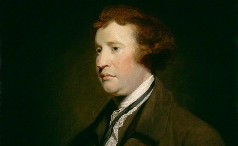 Edmund Burke. Source: National Portrait Gallery, Wikipedia Commons.
