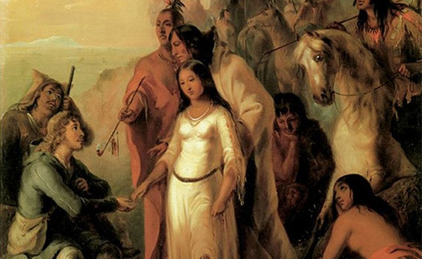 The Trapper's Bride by Alfred Jacob Miller, 1837. Source: Wikipedia Commons.
