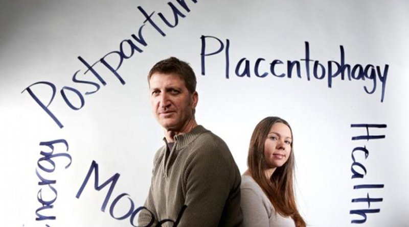 UNLV researchers Daniel Benyshek and Sharon Young found that consuming encapsulated placentas has little to no effect on postpartum mood and maternal bonding; detectable changes shown in hormones. Credit UNLV Photo Services
