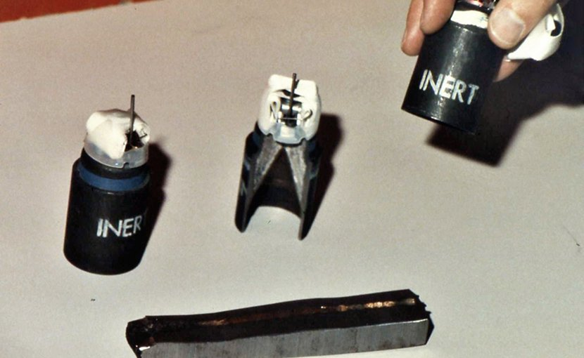 M77 submunition bomblets, example of a type of cluster munition. Source; WIkipedia Commons.