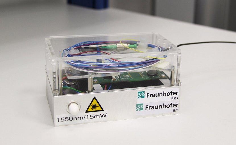 Demonstrator of the smart alarm system © Fraunhofer INT