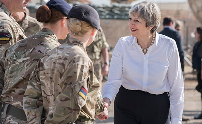 UK Prime Minister Theresa May in Iraq. Photo Credit: UK Prime Minister's Office.