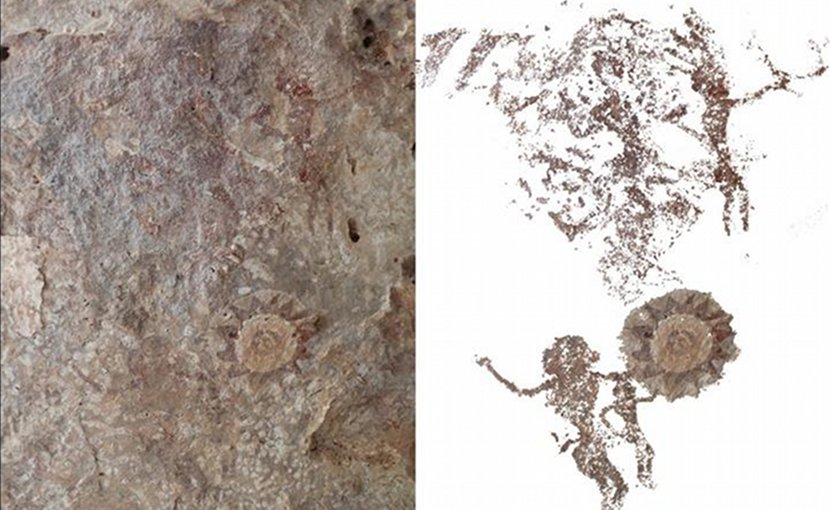 These are people depicted gesturing in Kisar Island rock art. Credit ANU