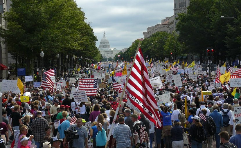 Tea Party Protest, Washington D.C. September 12, 2009. Photo by Freedom Fan, Wikipedia Commons.