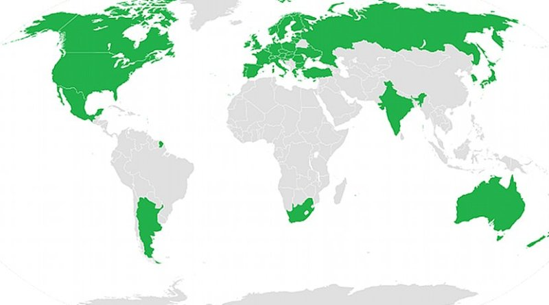Participating states of the Wassenaar Arrangement. Source: Wikipedia Commons.