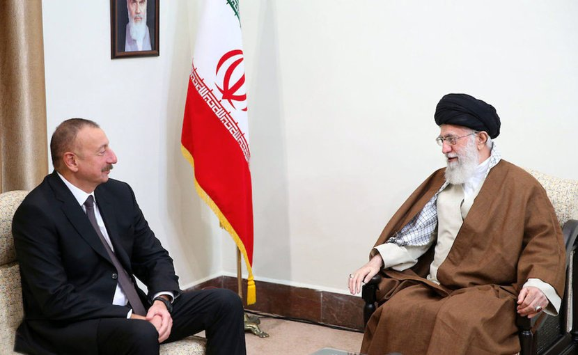 Azerbaijan's President Ilham Aliyev (left) meets with Iran's Supreme Leader Ayatollah Ali Khamenei in Tehran in November 2017. Photo: Azerbaijani Presidential Press Service