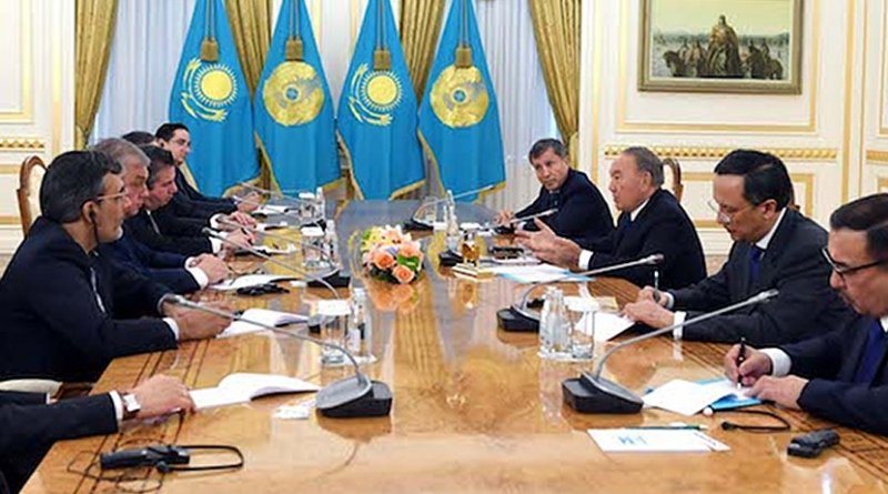 Kazakh President Nursultan Nazarbayev met October 31 with the heads of Russian, Turkish, Iranian delegations as well as a delegation of observers from the U.S., Jordan and the UN. Credit: Akorda.kz