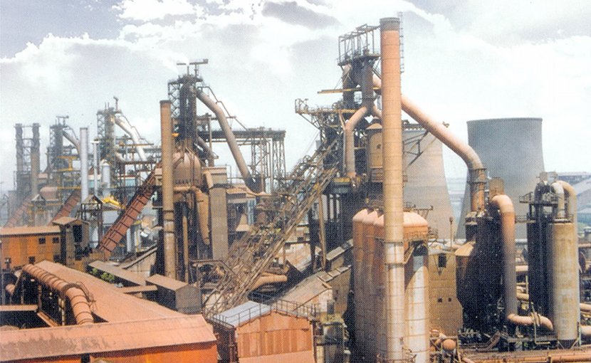 Durgapur Steel plant in India. Photo Credit: Durgapur Steel Plant, Wikipedia Commons.