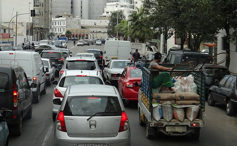 Traffic in Casablanca, Morocco. Photo by karel291, Wikimedia Commons.