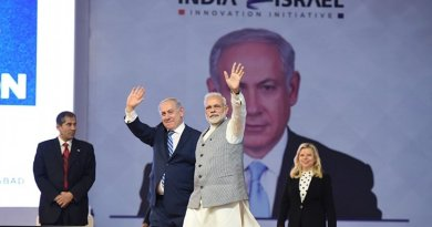 India's Prime Minister Narendra Modi and Israeli Prime Minister Netanyahu. Photo Credit: India PM Office.