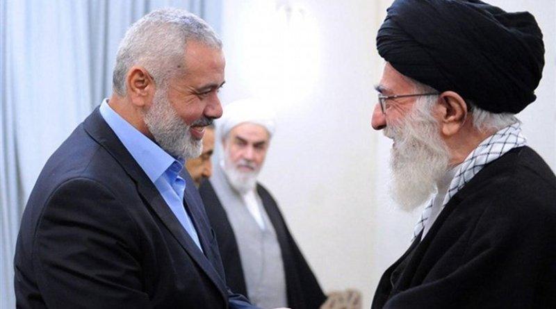 Chairman of Hamas Political Bureau Ismail Haniyeh and Iran's Ayatollah Seyed Ali Khamenei. Photo Credit: Tasnim News Agency.