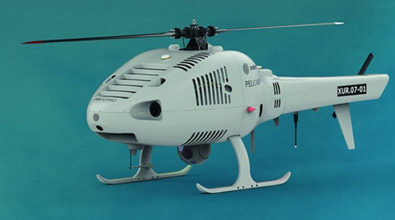 Indra's unmanned Pelicano helicopter. Photo Credit: Indra