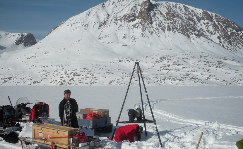 Although it may be biting cold over the water, heat from the Earth's interior is transported to the bottom water of Young Sound, North-East Greenland. Credit Photo: Wieter Boone