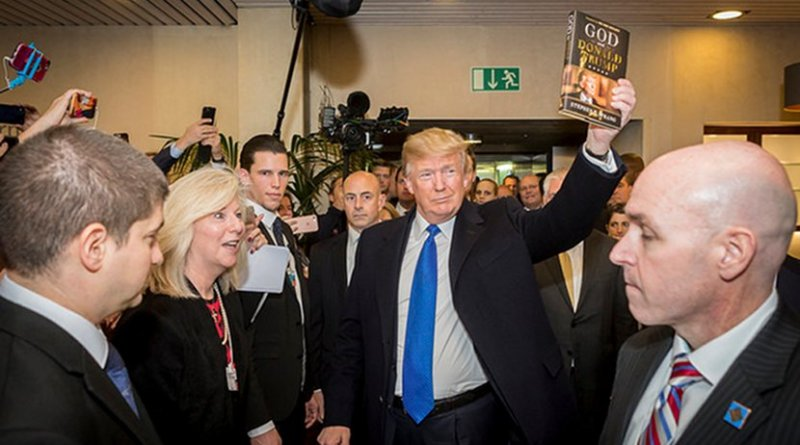 Trump arriving at the World Economic Forum on Friday (25 January 2018). Photo Credit: World Economic Forum