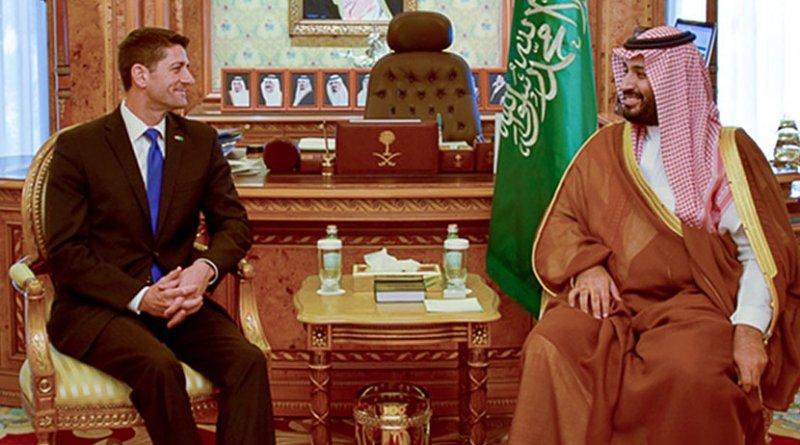 U.S. Speaker Ryan meets Saudi Crown Prince Mohammad bin Salman. Photo credit: US House Speaker's Office.
