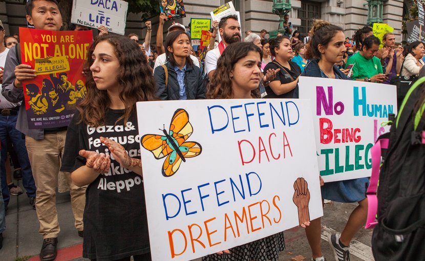 DACA supports in protest in San Francisco, September 5, 2017. Photo by Pax Ahimsa Gethen, Wikipedia Commons.