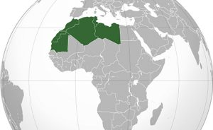 Maghreb countries of Algeria, Libya, Morocco, Mauritania and Tunisia. Source: Wikipedia Commons.