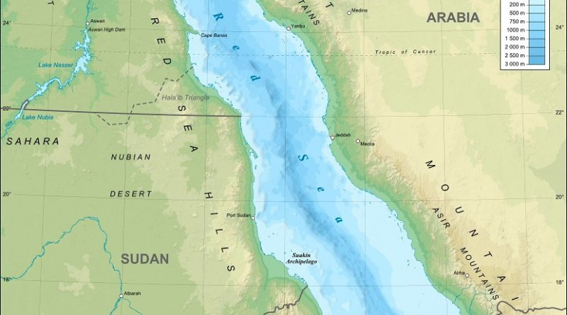 Red Sea. Source: WIkipedia Commons.