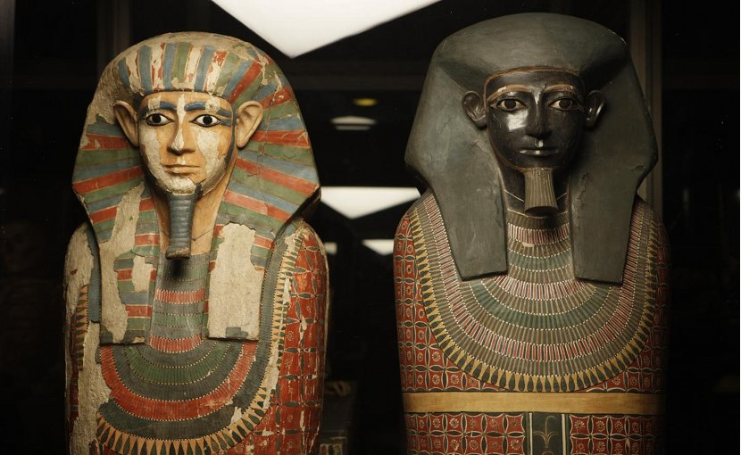 The Two Brothers are the Museum's oldest mummies and amongst the best-known human remains in its Egyptology collection. They are the mummies of two elite men -- Khnum-nakht and Nakht-ankh -- dating to around 1800 BC. Credit Manchester Museum, The University of Manchester