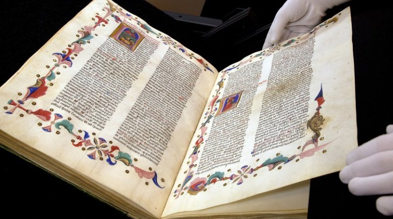 Illustrated Latin magnificent codex from the Biblioteca Apostolica Vaticana in Rome. Photo: University Library Heidelberg