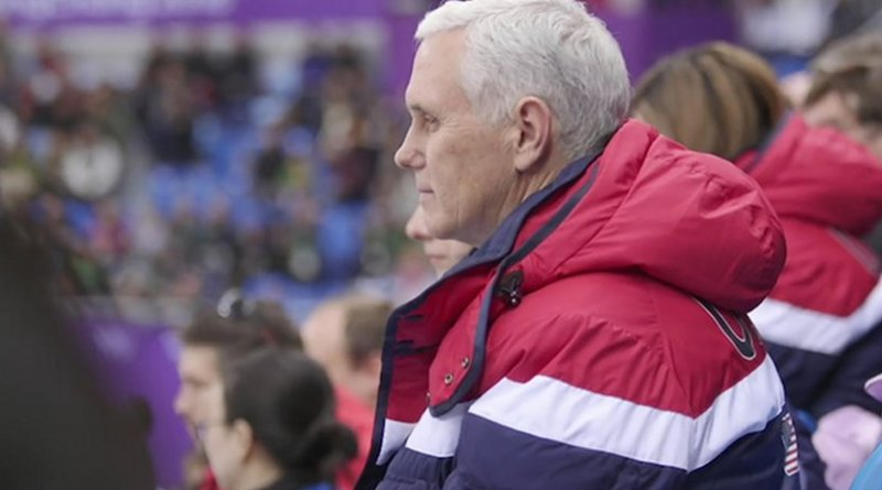 Image: Snapshot of Vice President Pence at the 2018 Winter Olympics extracted from YouTube. Credit: The White House.