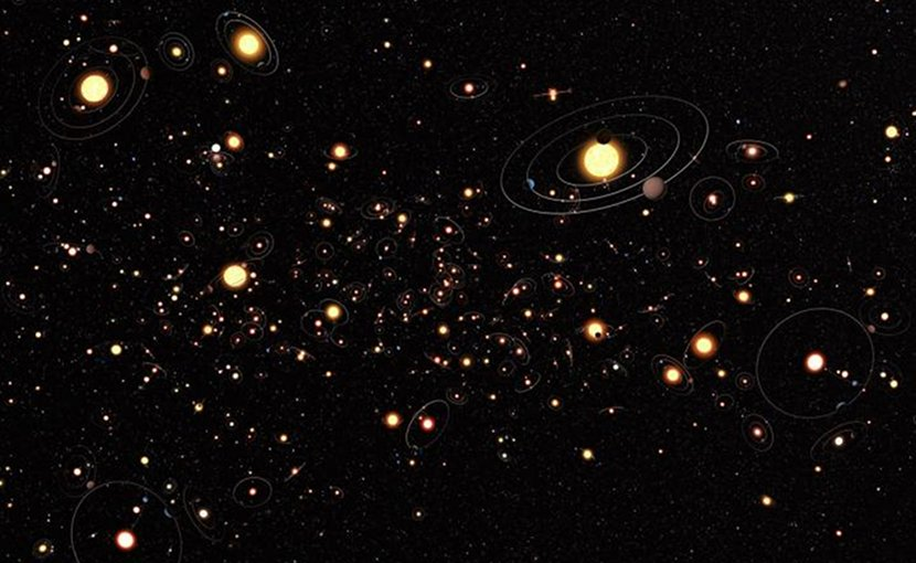 After detecting the first exoplanets in the 1990s it has become clear that planets around other stars are the rule rather than the exception and there are likely hundreds of billions of exoplanets in the Milky Way alone. The search for these planets is now a large field of astronomy. Credit ESA/Hubble/ESO/M. Kornmesser
