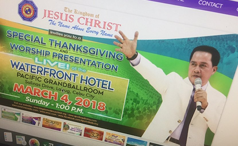Pastor Apollo Quiboloy, founder and leader of the Kingdom of Jesus Christ, as pictured on the religious group's website. (ucanews.com photo)