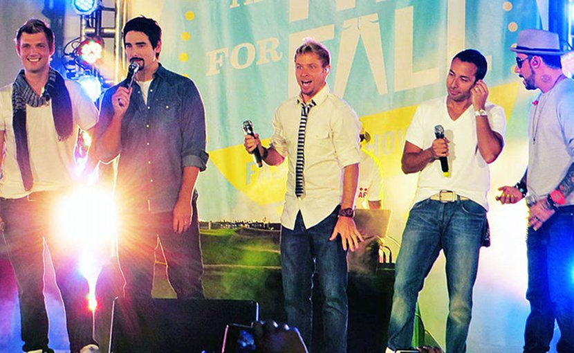 Backstreet Boys. Photo by Krystaleen, Wikipedia Commons.
