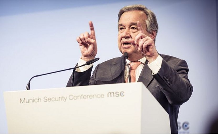 UN Secretary-General António Guterres addressing opening ceremony of the Munich Security Conference 2018 on 16 February. Credit: MSC / Kuhlmann