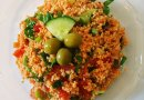 """Kısır"" is a couscous salad from Turkish Cuisine. Photo by Noumenon."