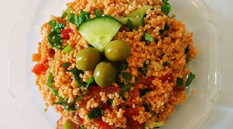 """""""Kısır"""" is a couscous salad from Turkish Cuisine. Photo by Noumenon."""