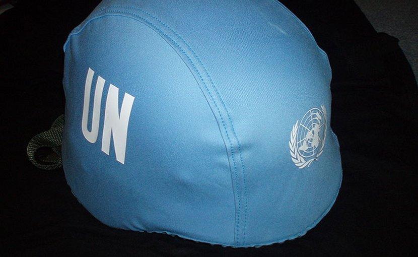 UN Blue Helmet. Photo by Daniel Košinár, Wikimedia Commons.