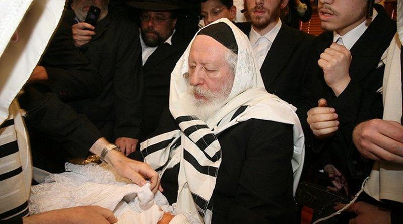 Jewish 'brit milah' circumcision ceremony. Wikipedia Commons.