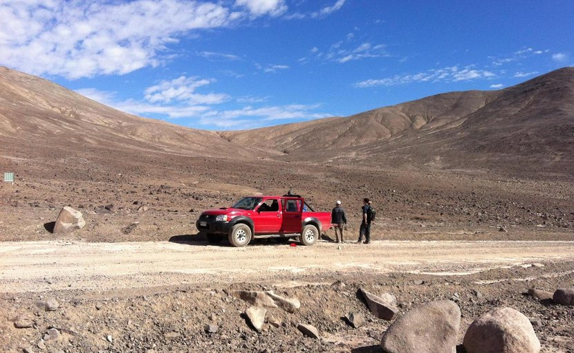 This is the sampling site Lomas Bayas in the core region of the Atacama. Credit Dirk Schulze-Makuch, TU Berlin