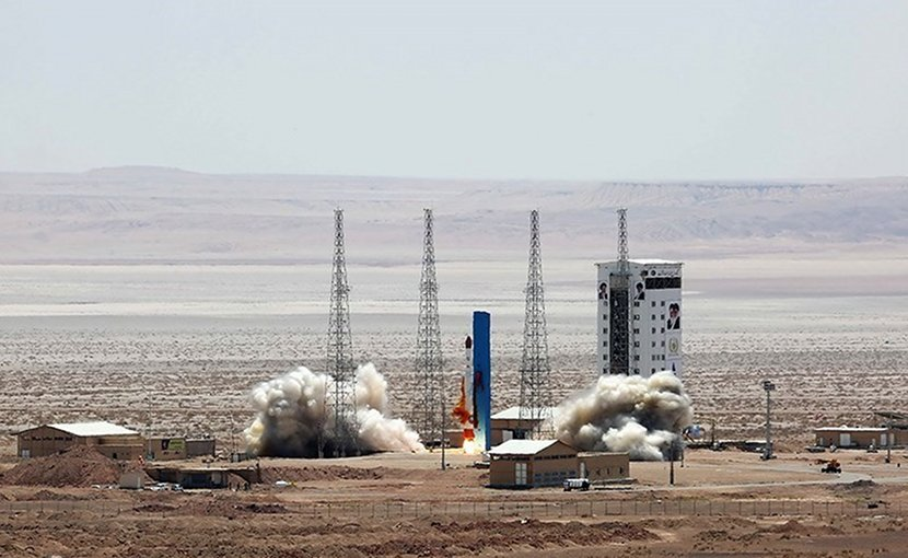 File photo of Iran launching a satellite. Photo Credit: Tasnim News Agency.