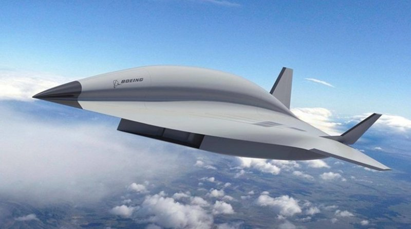 """Artist concept of Boeing's hypersonic """"Valkyrie II"""" aircraft. Photo Credit: The Boeing Company / Facebook."""