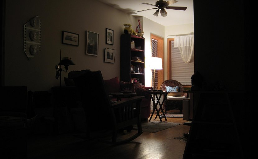 dim dark room