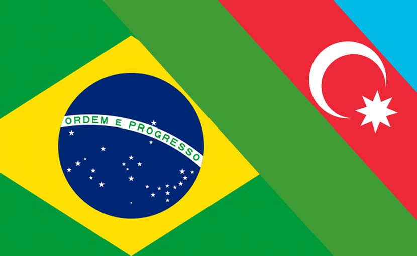 Flags of Azerbaijan and Brazil