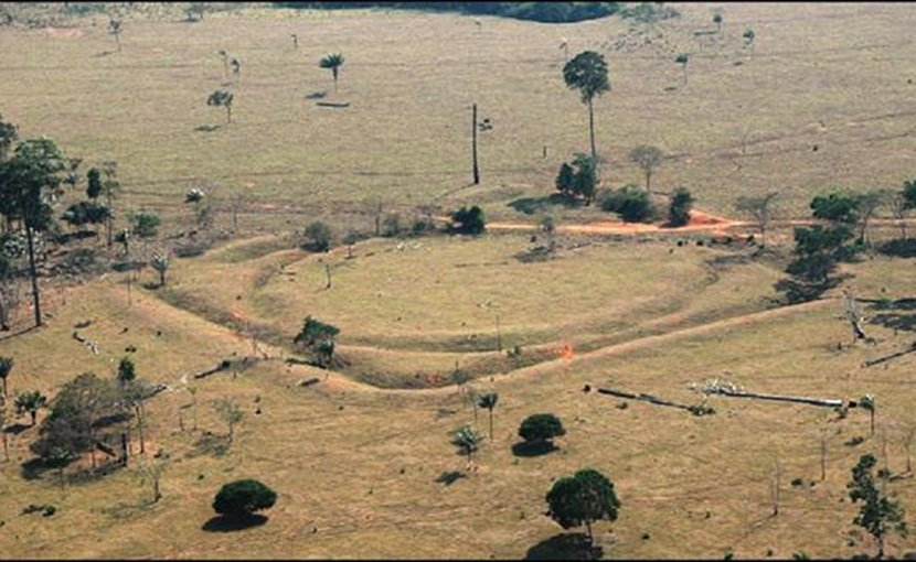 This is an aerial photo of one of the structures at Jacó Sá site. Credit University of Exeter