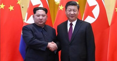 North Korean leader Kim Jong Un with China's President Xi Jinping. Photo Credit: Tasnim News Agency.