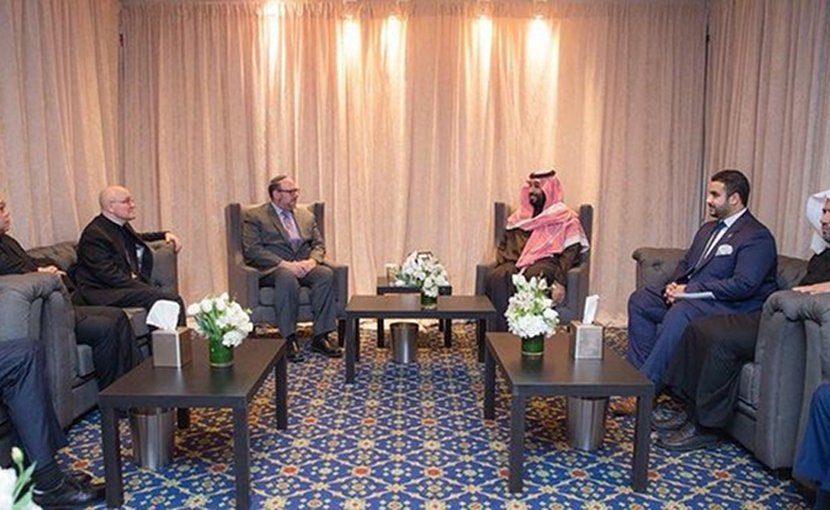 Saudi Arabia's Crown Prince Mohammed bin Salman met with several US religious leaders. (SPA)