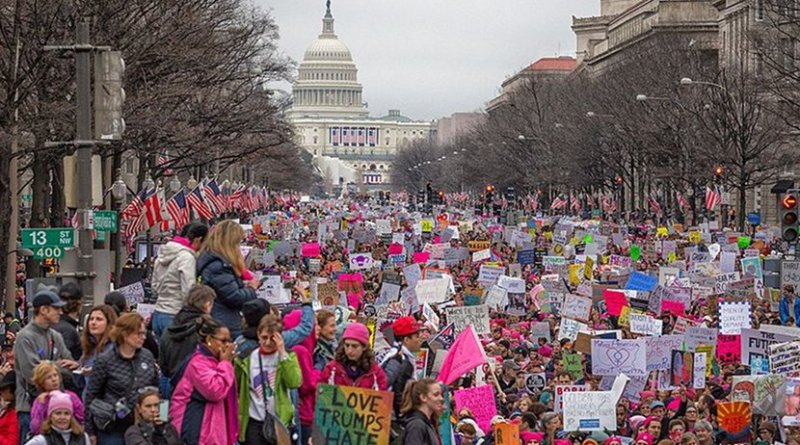 Women's March on Washington. Photo by Mobilus In Mobili, Wikimedia Commons.