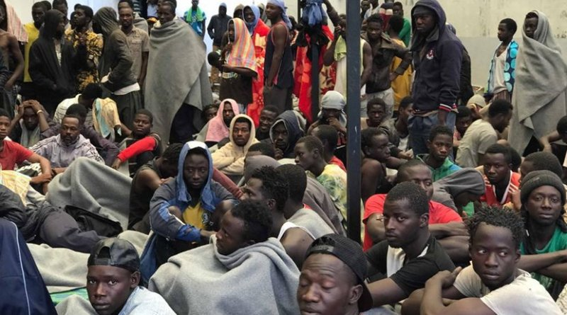 African migrants in Libyan detention centers