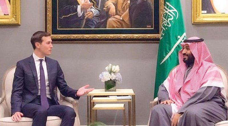 Saudi Crown Prince Mohammed bin Salman holds talks with the White House Senior Adviser Jared Kushner. (SPA)