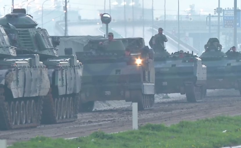 Tanks of the Turkish Land Forces on the road to Afrin, Syria. Source: VOA, Wikipedia Commons.